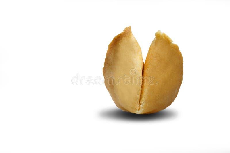 Cookie de fortuna Isolado no fundo branco imagem de stock
