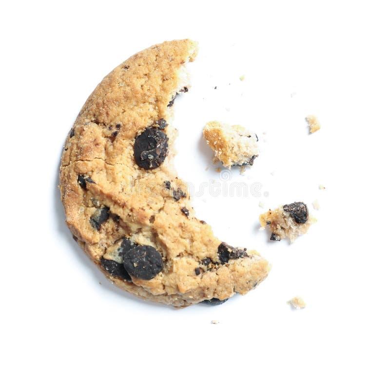 Cookie deliciosa no formulário da lua isolado fotografia de stock