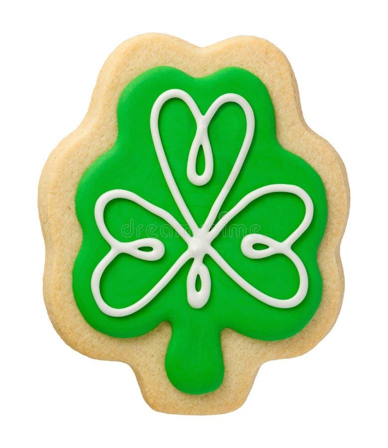 Cookie do trevo para o dia de Patricks de Saint fotos de stock royalty free