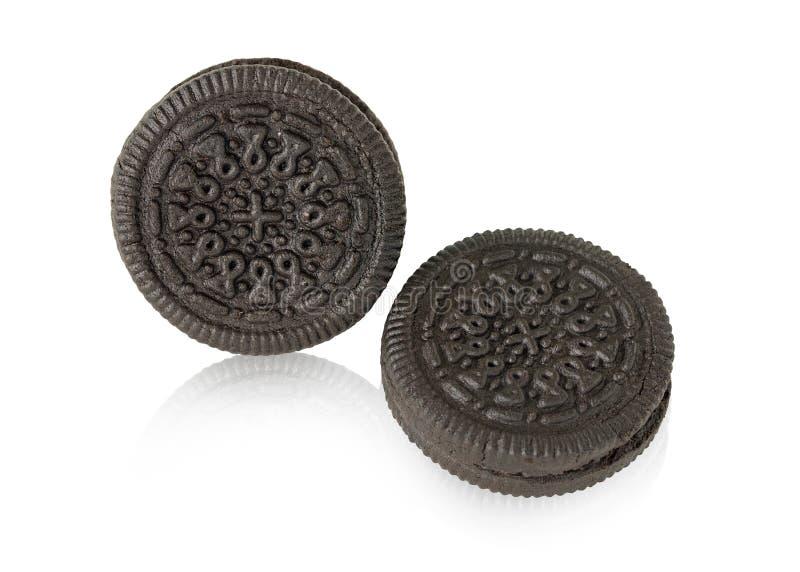 Cookie e creme do chocolate fotografia de stock royalty free