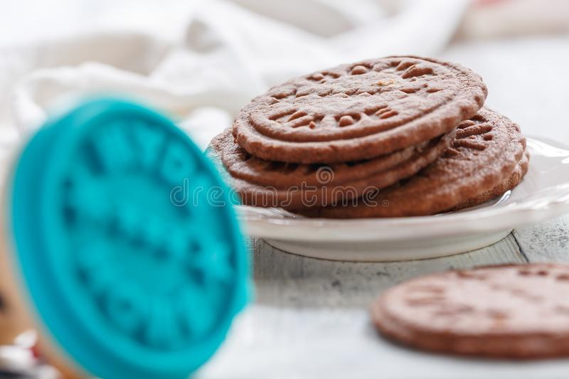 Download Cookie E Selo Do Chocolate Para O Close Up Das Cookies Foto de Stock - Imagem de biscoito, textura: 107527508