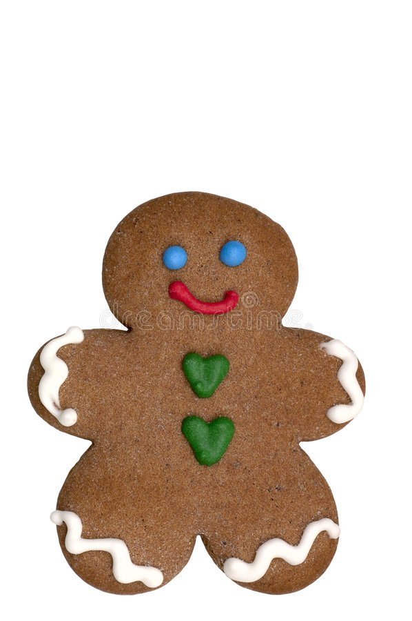 Cookie - Gingerbread Man royalty free stock photos