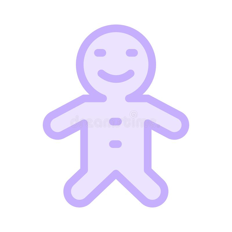 COOKIE icon. COOKIE GLYPH SHADOW FLAT ICON royalty free illustration