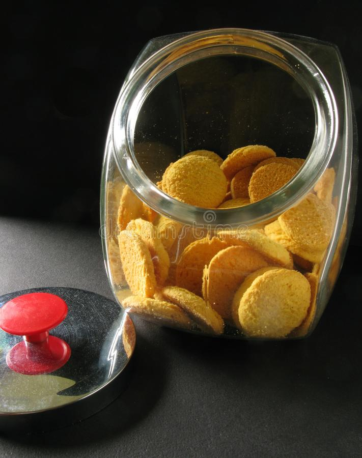 Someone`s been in the Cookie Jar stock photos
