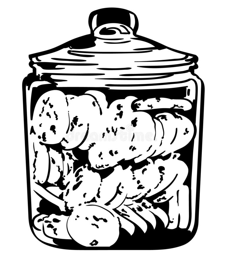 Cookie jar vector eps Hand drawn, Crafteroks, svg, free, free svg file, eps, dxf, vector, logo, silhouette, icon, instant download. Cookie jar vector hand drawn royalty free illustration
