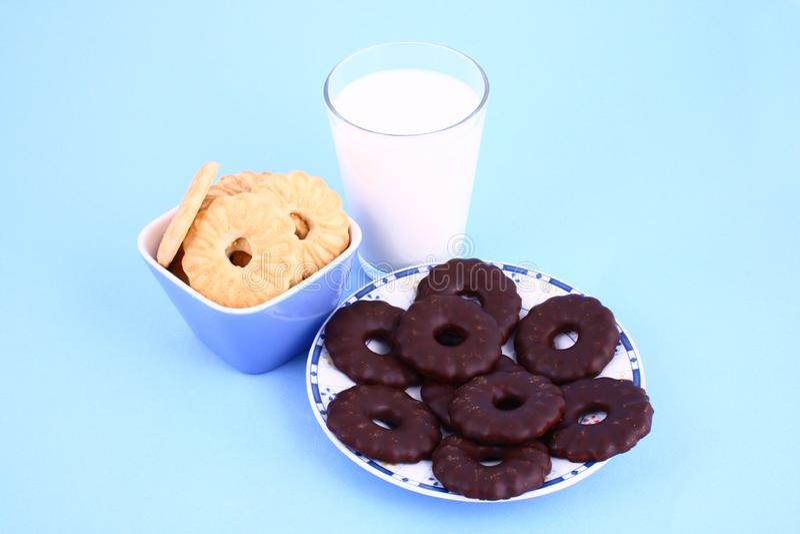 Download Cookie nad milk stock photo. Image of brown, drink, tasty - 2068832