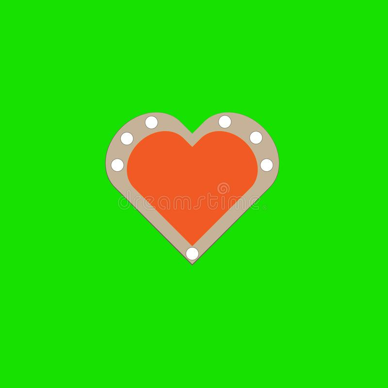 Cookie no fundo verde ilustração royalty free