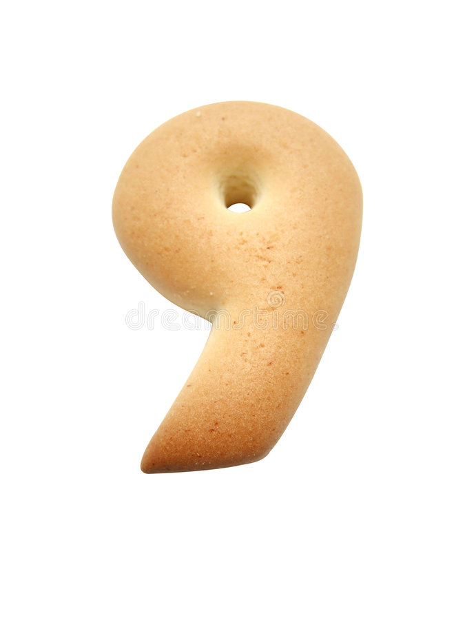 Cookie number royalty free stock photos