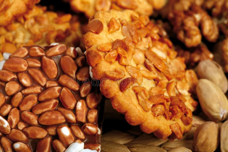 Cookie nuts dreams. royalty free stock images