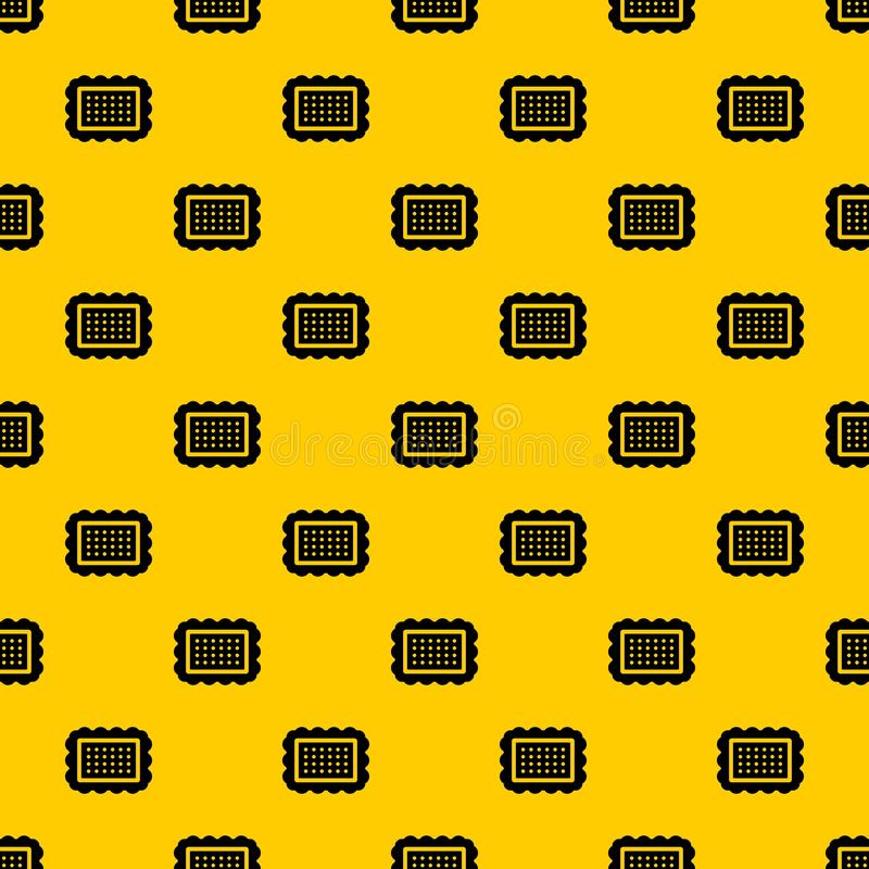 Cookie pattern vector. Cookie pattern seamless vector repeat geometric yellow for any design vector illustration
