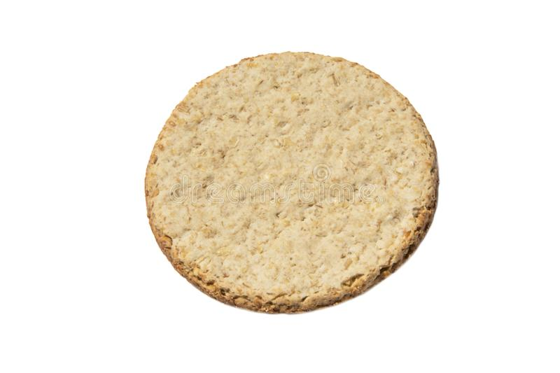 Cookie saudável soletrada isolada no fundo branco imagens de stock royalty free