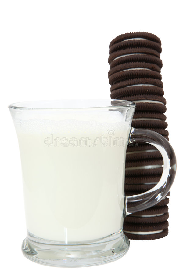 Cookie Stack and Milk royalty free stock photography