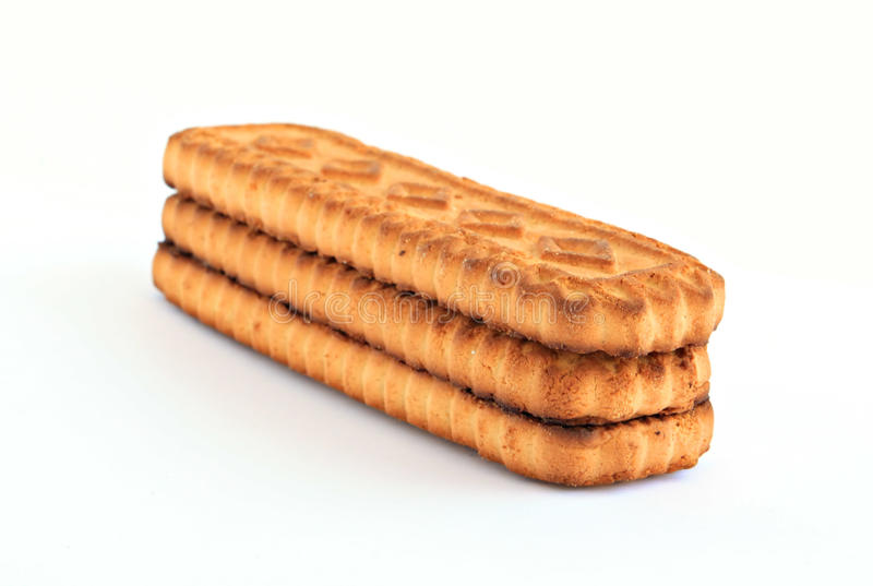 Cookie on white background stock photo