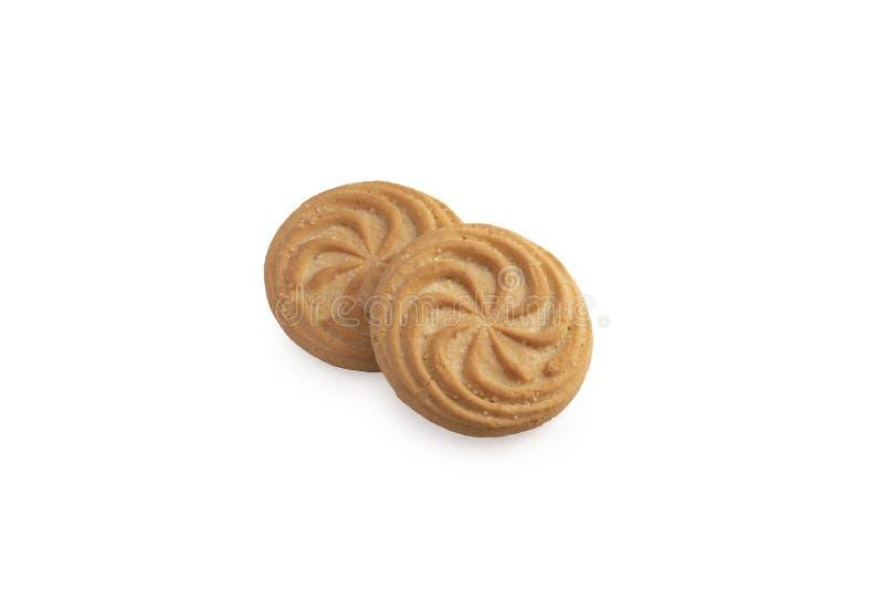 Cookies σε λευκό στοκ φωτογραφίες με δικαίωμα ελεύθερης χρήσης