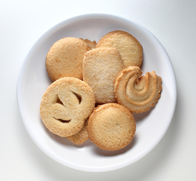 Cookies. Danish Cookies served on a plate stock photography