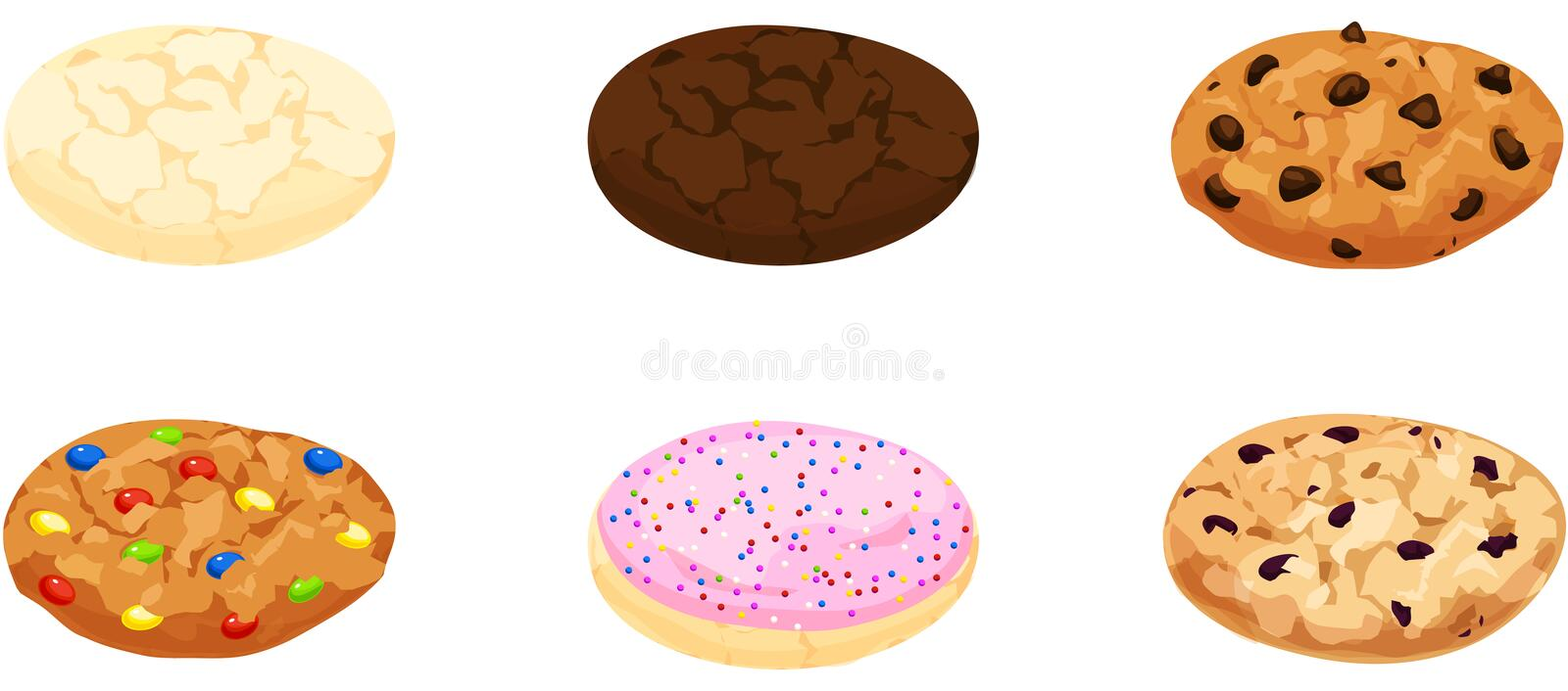 Cookies illustration libre de droits
