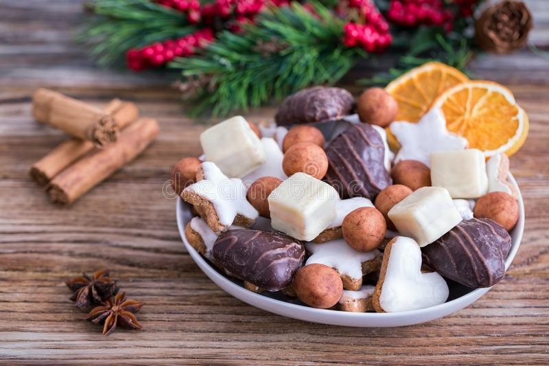 Cookies alemãs do Natal imagem de stock