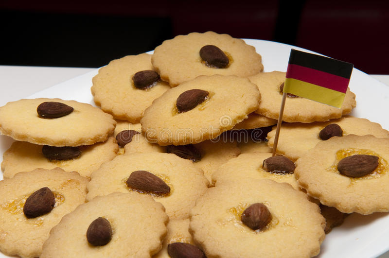 Cookies with almonds gluten freen stock photography
