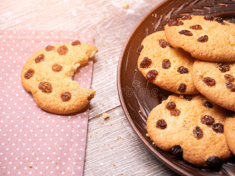 Cookies americanas apetitosas Close-up imagem de stock