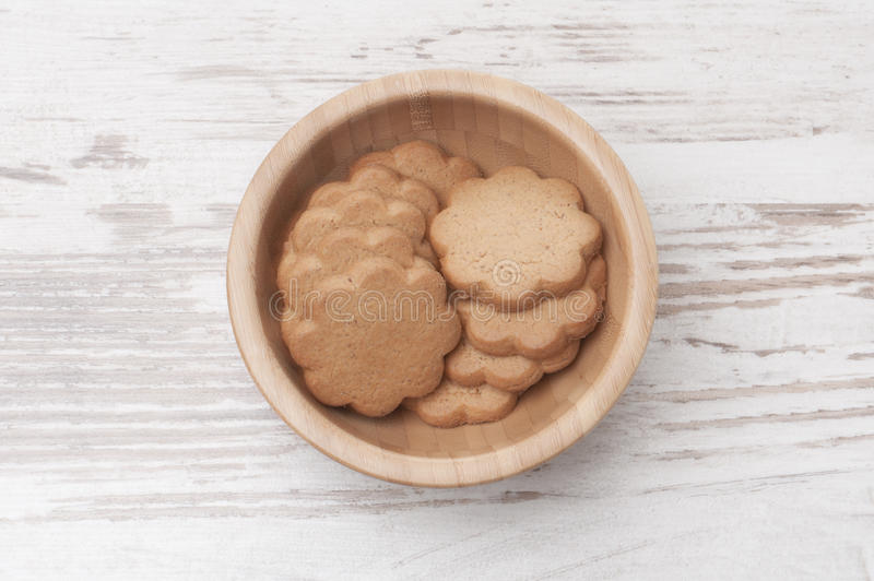 Cookies in a bowl royalty free stock images