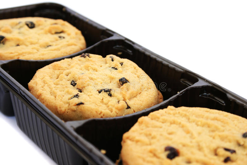 Cookies in box stock photography