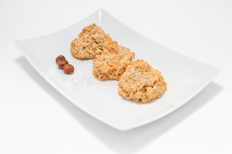 Cookies. Brutti ma buoni - made with hazelnut and honey royalty free stock image