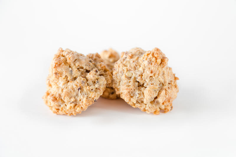 Cookies brutti ma buoni. Made with hazelnut and honey stock photos