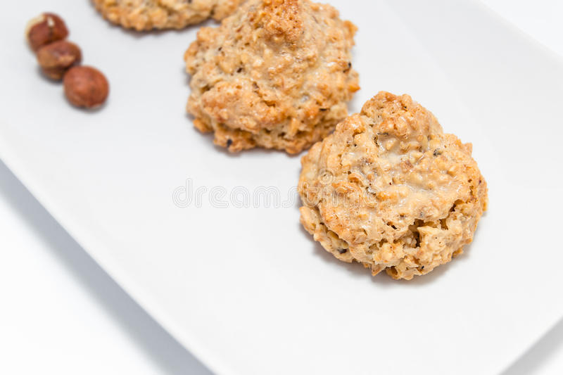 Cookies brutti ma buoni. Made with hazelnut and honey stock images