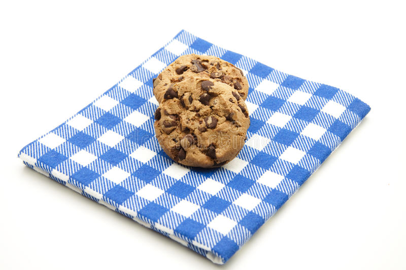 Download Cookies On Checked Table Cloth Stock Photo - Image: 17318010