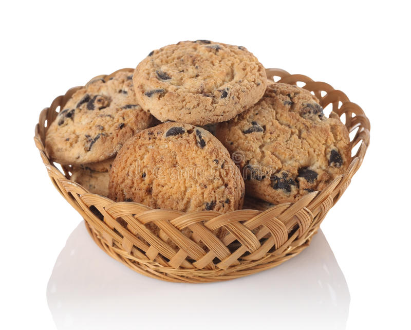 Download Cookies With Chocolate In The Basket Stock Image - Image of nutrition, pastry: 39731843