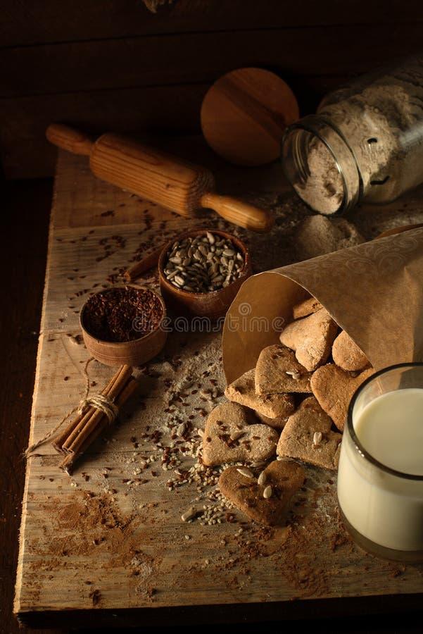 Cookies with cinnamon 12 stock image
