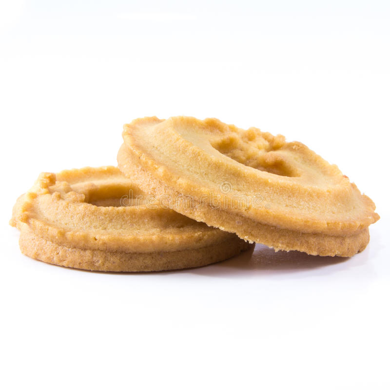 Cookies. Classic Vanilla Cookies isolated on white background royalty free stock photography
