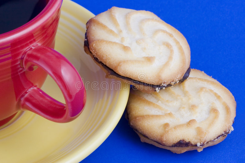 Cookies and Coffee stock images