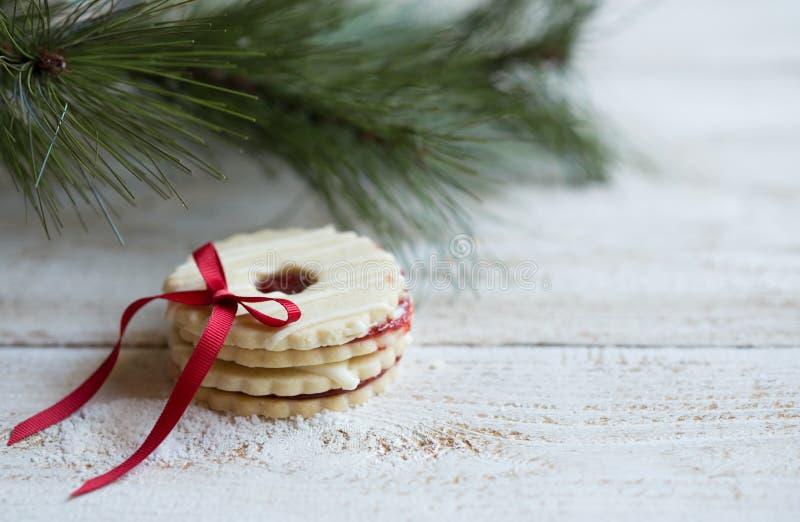 Cookies com decoração do Natal foto de stock