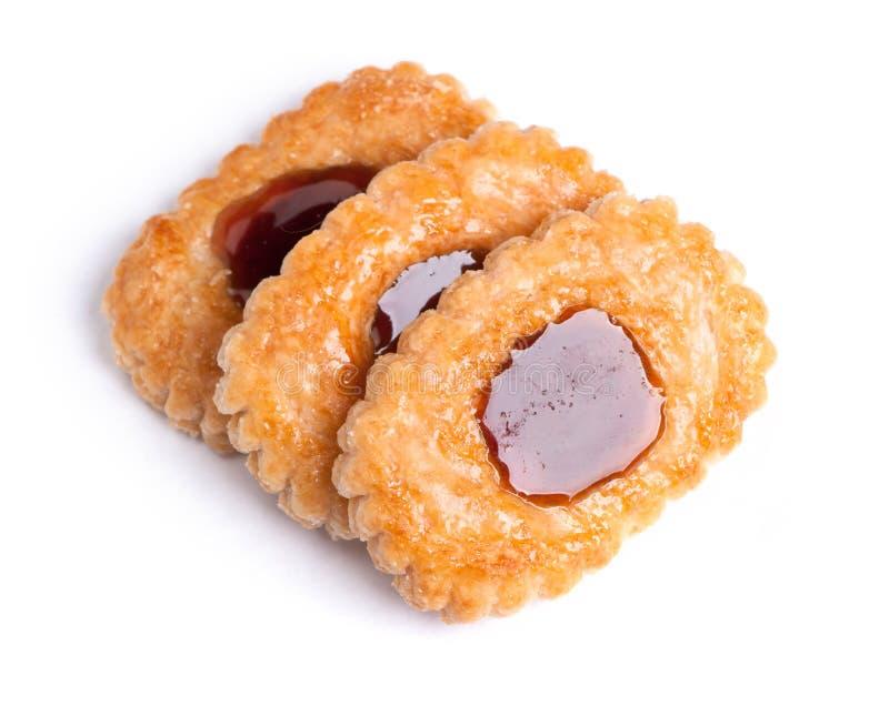 Cookies com enchimento fotografia de stock
