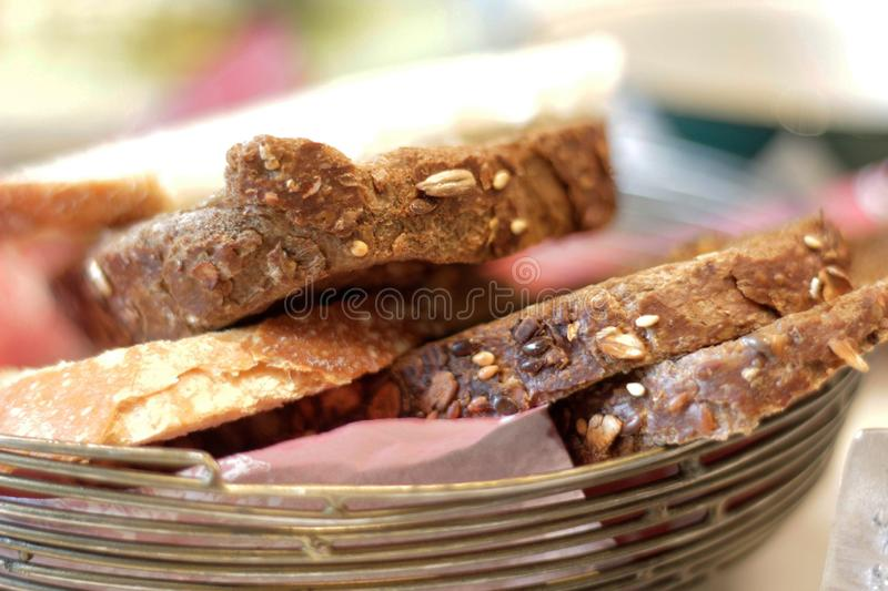 Cookies served with morning tea stock photography