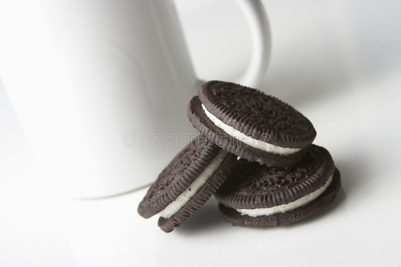 Cookies and cup royalty free stock photography