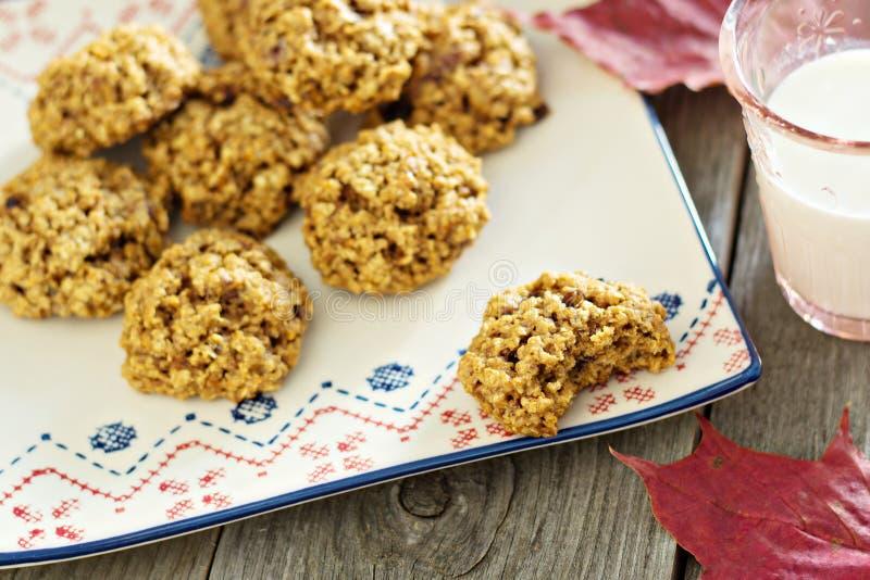 Cookies da aveia da abóbora imagem de stock