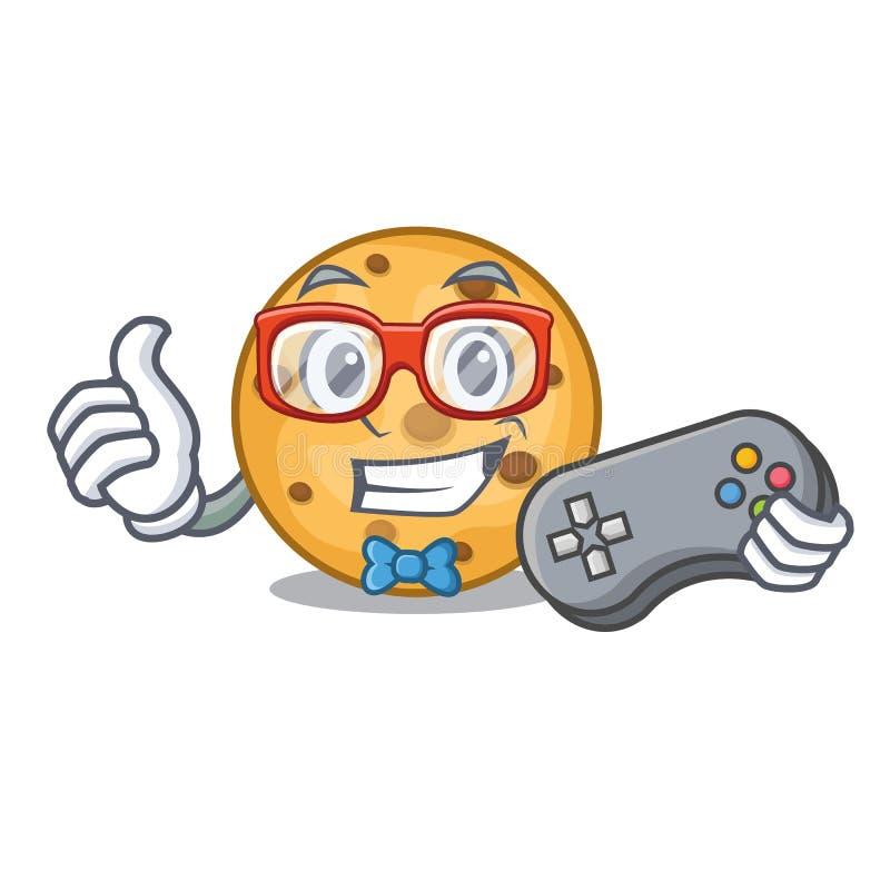 Cookies da aveia do Gamer em um frasco dos desenhos animados ilustração do vetor