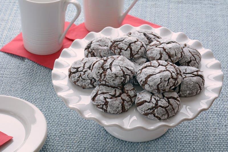 Cookies da dobra do chocolate imagens de stock royalty free