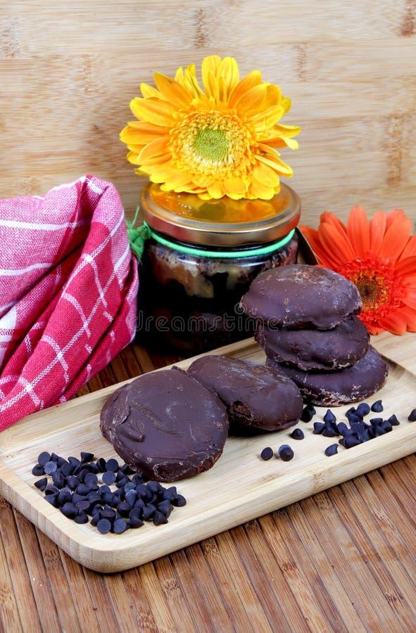 Cookies da microplaqueta de Choco foto de stock royalty free