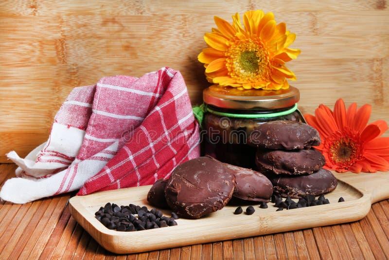 Cookies da microplaqueta de Choco fotos de stock