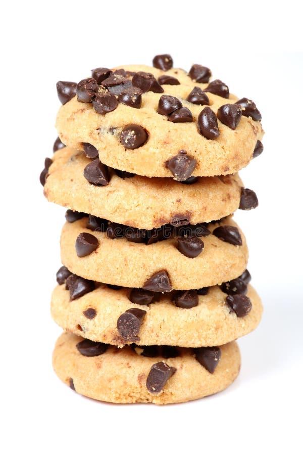 Cookies da microplaqueta de Choco imagem de stock royalty free