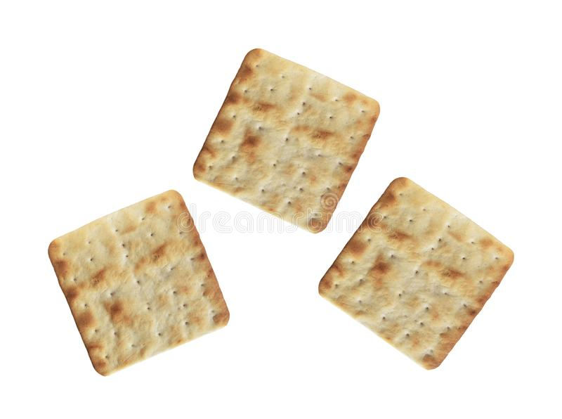 Cookies da microplaqueta no branco fotografia de stock royalty free