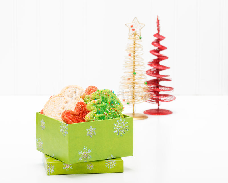 Cookies de açúcar do Natal fotografia de stock