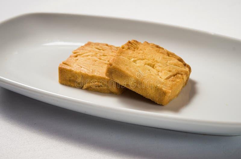 Cookies de amêndoa imagem de stock