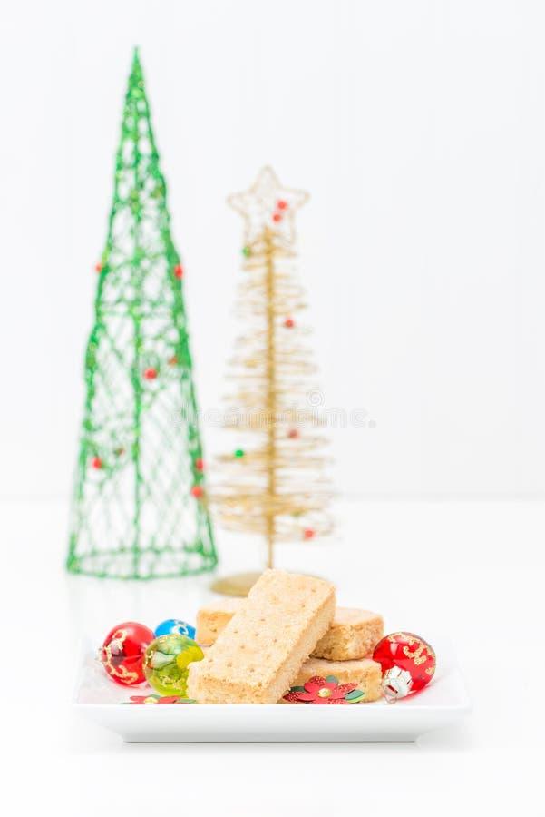 Cookies de biscoito amanteigado amanteigadas imagens de stock