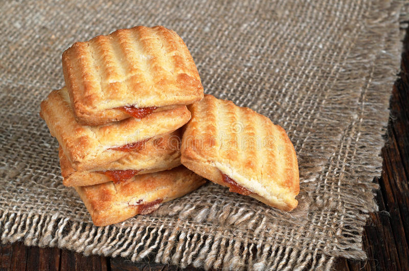 Cookies de biscoito amanteigado do biscoito fotografia de stock