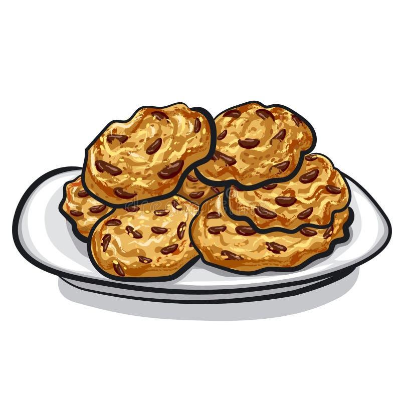 Cookies de farinha de aveia ilustração stock