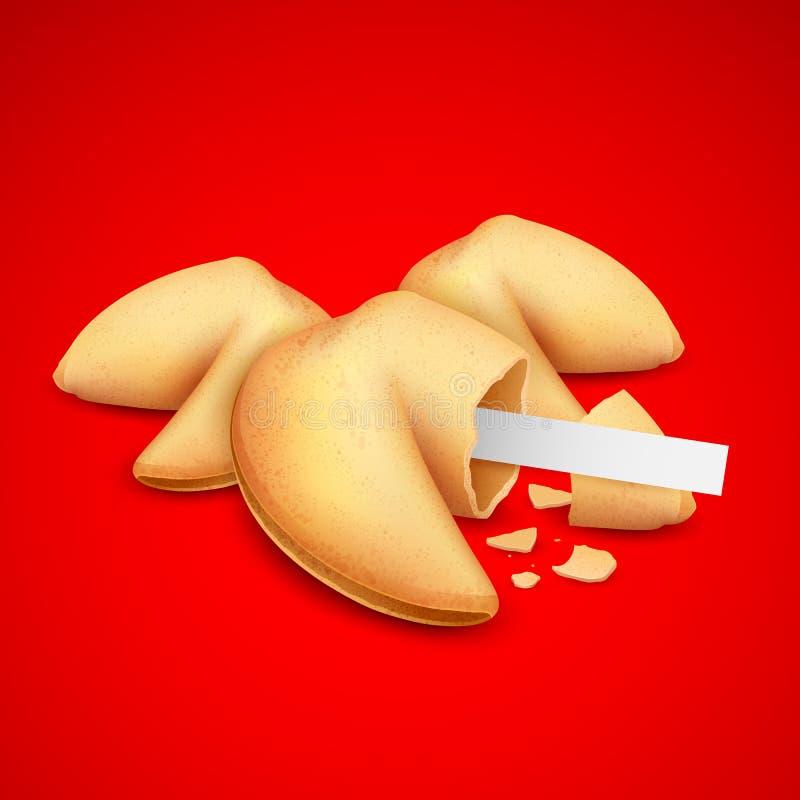 Cookies de fortuna ilustração do vetor